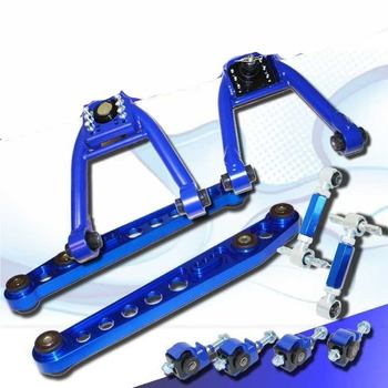 1996-2000 Honda Civic Rear Lower Control Arm Front Upper & Rear Camber Kit Blue