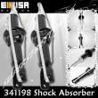 Rear PAIR Shock Absorbers for 96-00 Honda Civic CX DX EX LX BLACK 2PCS 341198