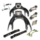 Front and Rear Control Camber Arms COMBO for 94-01 Integra 92-95 Civic 93-97 DelSol BLACK