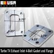Turbo T4 Exhaust Inlet 4-Bolt Gasket amd Flange