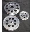 Aluminum Silver Crank Pulley Set for Nissan Skyline R32 R33 R34 GT-R