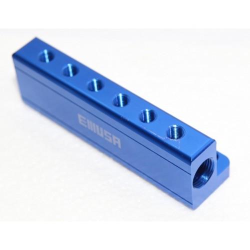 Blue quot npt port vacuum manifold kit fit turbo boost