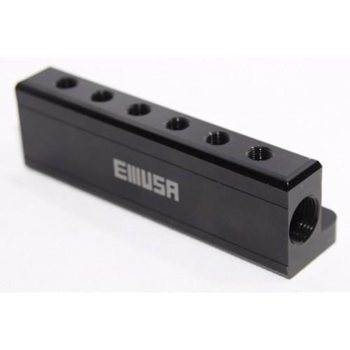Black quot npt port vacuum manifold kit fit turbo boost