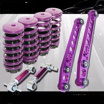 Honda Civic 96-00 Coilover Spring Set+Rear Camber+Lower Control Arm COMBO purple