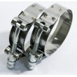 """2x 2"""" Stainless Steel T-Bolt Clamps Silicone Coupler Intercooler Turbo Intake"""
