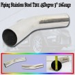 Universal Intercooler Piping Stainless Steel T201 45Degree Pipe 3 with quot; 16 Gauge