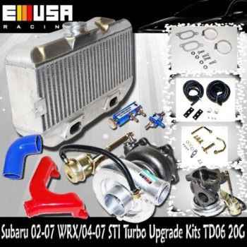 2002-2007 Subaru WRX Sti Upgrade Turbo Kit Impreza Top Mount Intercooler