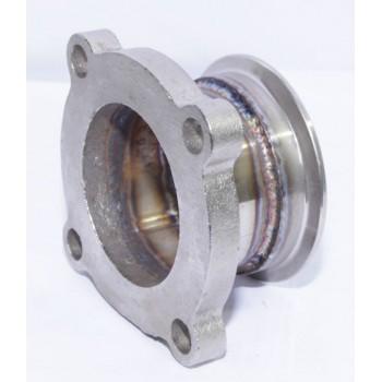 """Steel Adaptor fit GT35 4Bolt Flagne TO 2.5"""" V-Band Flange Toyota Mazda Dodge"""