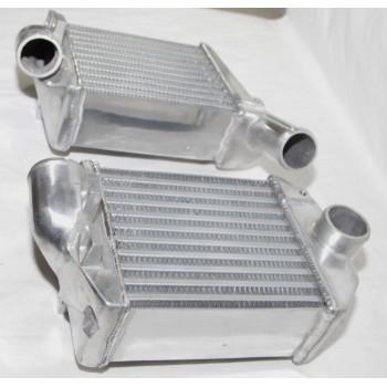 Front Side Mount Bi-Turbo Intercooler for 00-02 Audi S4 Base Sedan 4D 2.7L B5/C5