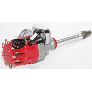 High Energy Ignition Distributor Small Base Red Cap fit Chevy 305 327 350 454 PE323