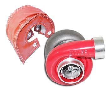 """RED EMUSA GT45 Turbo/Turbocharger 600+HP T4/T66 3.5"""" V-Band 1.05+Mesh Blanket"""