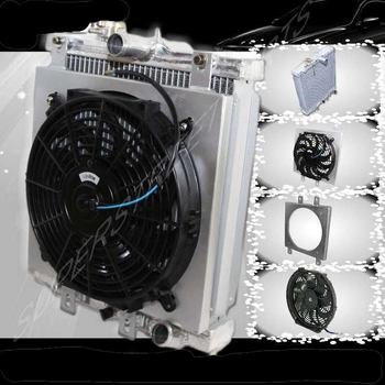 "Automatic Transmission Radiator+12"" Fan+Shroud for 92-00 Civic High Performance"