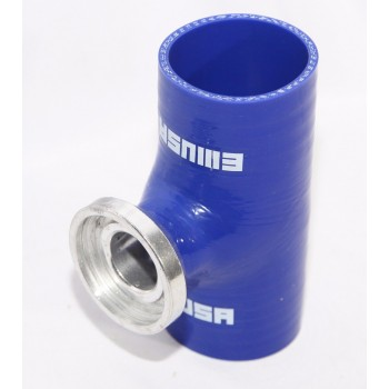 "BLUE 3"" Reinforce Silicone Adapter Pipe for SSQV Style Turbo BOV"