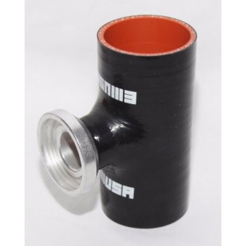 """BLACK 2.5"""" Reinforce Silicone Adapter Pipe for SSQV Style Turbo BOV"""