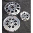 Aluminum Silver Crank Pulley Set for Nissan Skyline R32 R33 R34 GT-R