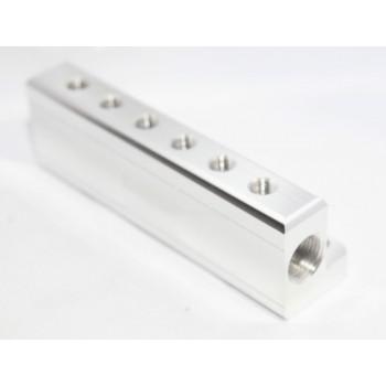 """1/8"""" NPT 6 Port Vacuum Manifold Kit fit Turbo Boost Intake Manifold"""