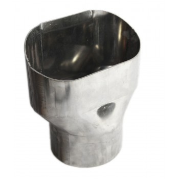 """Universal SS Exhaust Tip Oval Tip with 4.8"""" O.D. 2.5"""" Length Piping"""