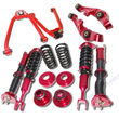 RED Front Lower Control Arm+Upper Arm+ADJ.Suspension fit 03-07 Nissan 350Z Coupe