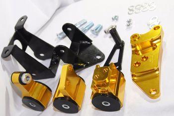 GOLD Engine Motor Mount Kit fits 2006-2011 Honda Civic Si Coupe /Sedan Manual