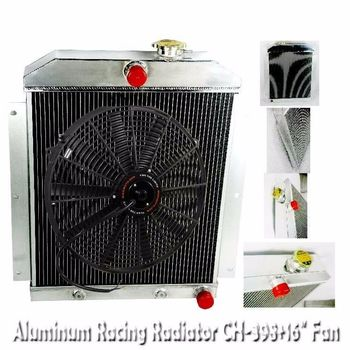 "3 Core Performance RADIATOR+16"" Fan for 47-54 Chevy Pickup I6 3100 3600 3800"