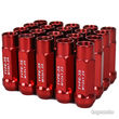 Godspeed 20pc Type 3-X 55mm Cold Forged Rim Wheel Tuner Lug Nuts 12x1.25 Red b