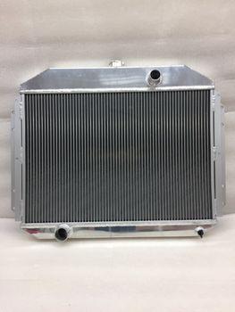 61-64 F100 F250 F350 Y Block L6 V8 3 Row Tri Core Full Aluminum Racing Radiator