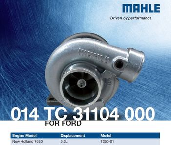 MAHLE 014 TC 31104 000 Turbo for FORD-TRACTOR / NEW HOLLAND 7630 Engine 5.0L