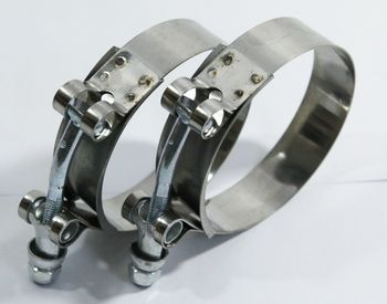 """2x2.75"""" Stainless Steel T-Bolt Clamps Silicone Coupler Intercooler Turbo Intake"""