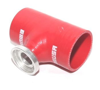 """2.5""""RED Silicone SSQV Type Flange Adapter  for Toyota Acura Mazda BMW"""