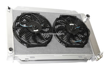 "3 Row Aluminum Racing Radiator+12"" Fans fits 79-93 Ford Mustang GLX LX GT SVT"