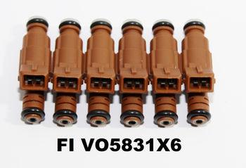 1set (6)Fuel Injectors for 05-06 Volvo SC90 2.9L I6/99-05 S80 2.8L I6/2.9L I6