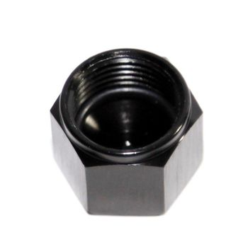 BLACK 8AN AN-8 Flare Cap Block Off Aluminum Anodized Fitting