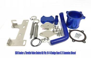 EGR Cooler & Throttle Valve Delete Kit Fits 10-14 Dodge Ram 6.7L Cummins Diesel