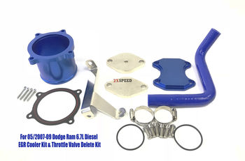 EGR Cooler Kit & Throttle Valve Delete Kit for 05/2007-09 Dodge Ram 6.7L Diesel