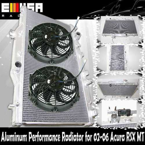 "Dual Core Performance RADIATOR+12"" Fans For 02-06 ACURA"