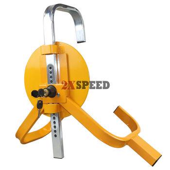 Universal Wheel Clamp lock for  Car Trailer Van Caravan Yellow/Red 2 Keys