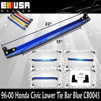 EMUSA Lower Tie Bar FOR 1996 1997 1998 1999 2000 Honda Civic BLUE