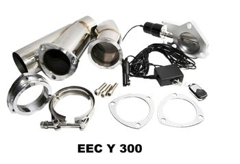 3 quot; SS Exhaust Catback Downpipe Cutout E-Cut Out Valve System Manual Electric