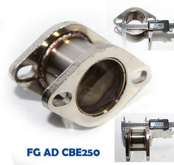 Catback Exhaust Muffler 2.9 quot; Extension Flange Steel Adapter 2.5 quot; 2Bolt Flange