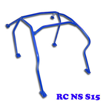 6 Point Anti Roll Cage BLUE for Nissan Silvia S15 Sunroof EX