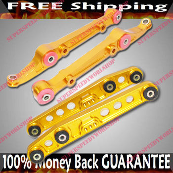 GOLD Front  amp; Rear Lower Control Arms  92-95 Civic/94-01 Integra/93-97 Del Sol