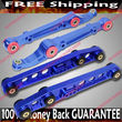 BLUE Front  amp; Rear Lower Control Arms  92-95 Civic/94-01 Integra/93-97 Del Sol