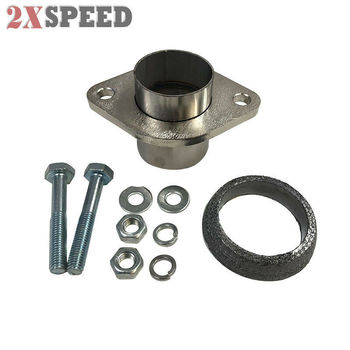 "Brand New 2"" Semi-Direct Fit Exhaust Converter Pipe Flange Repair Kit w/ Gasket"