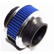 BLUE 2.75 quot; Mesh Bypass Valve Pipe Turbo/Cold Cool Air Intake Filter