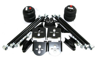 Weld On Triangulated Air Ride Mount Bracket 2.75 quot;Axle amp;2500lb Air Bags  amp;4Link Kit