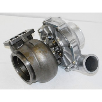 "T72 T3 FLANGE Turbo Turbocharger Twin Scroll Oil Cooled 4"" Inlet 2.5"" Outlet .70A/R"