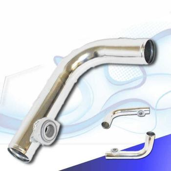 "90 Degree Aluminum Piping with 2.5"" BOV 2-BOLT Flange Honda Accord Civic Del Sol"