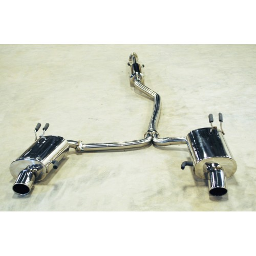 """Direct Bolt On 2009-2012 Acura TL Dual 4"""" Tip 2.25"""" Piping"""