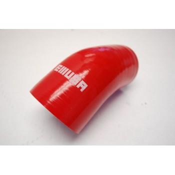 "Silicone Reducer hose 45 degree 2""-2.5"" COUPLER red"