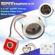 Universal Voltage Meter Gauge carbon fiber face 2 1/16 quot; 52MM